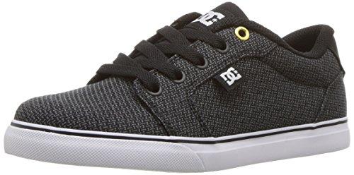 DC Kids' Anvil TX SE Sneaker, Black/Grey/White, 5 M US Big Kid