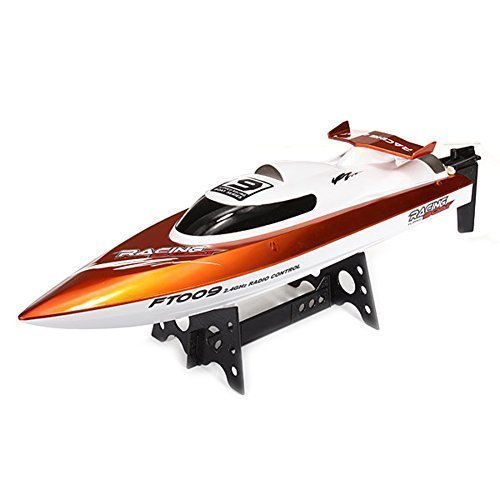 FeiLun FT009 2.4G 4CH High Speed Racing Flipped RC Boat Electric Remote Control Speedboat Water Cooling Motor System 35KMH - Orange