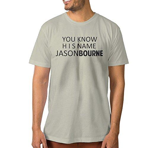 Texhood Man's Jason Bourne Tshirt SizeXL Natural O-Neck (Wholesale Ipod Shuffle)