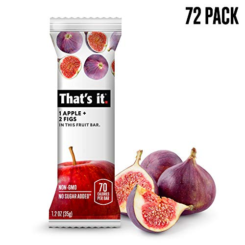 That's it. Apple + Fig Fruit Bars 100% All Natural, No Artificial Ingredients or Preservatives Delicious Healthy Snack for Children & Adults, Vegan, Gluten Free, Paleo, Kosher, Non GMO (72 Pack)
