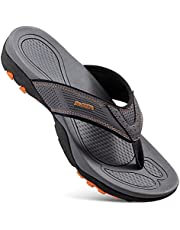 SHGM Men Sandals,Indoor Anti Skid Thong Slippers and Outdoor Slippers for Beach,Comfort Casual Thong Sandals