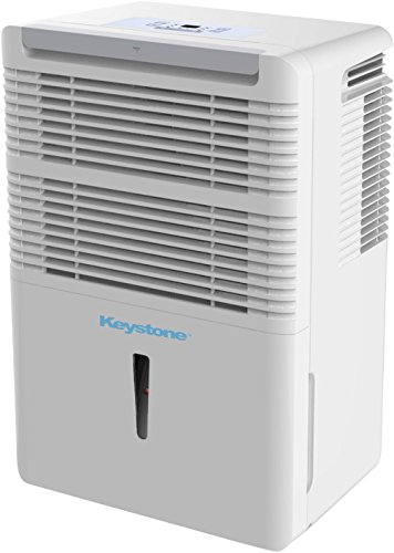 (Keystone KSTAD70C Energy Star 70-Pint Portable Dehumidifier for 4500 Sq. Ft. with 12.8-Pint Bucket Capacity and Full Bucket Alert, White)