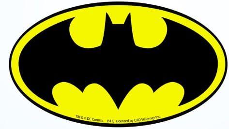 Amazon.com: Pegatina con el logo de Batman, producto con licencia de DC  Comics: Toys & Games