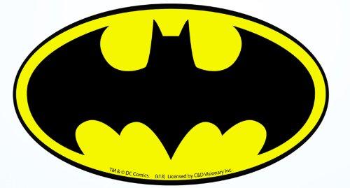 Licenses Products DC Comics Batman Logo Sticker (Logo Guitar Dc)