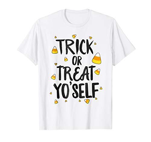 Trick or Treat Yo'self Halloween T-Shirt Funny Candy