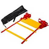 Firelong Agility Speed Ladder,Durable 7M 14 Rungs Fitness Agility and Flexibility Training Equipment for Hockey,Football,Soccer,Basketball and Other Sports-with Carrying Tote