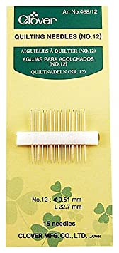 Clover Quilting Needles, No. 12 468/12