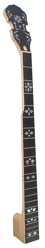 Golden Gate P-214 Fiddle Peghead 5-String Banjo Neck - Hearts & Flowers