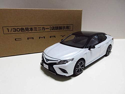 トヨタ 新型カムリ ハイブリッド WS レザーパッケージ CAMRY カラーサンプル2トーン ブラックxホワイトパール
