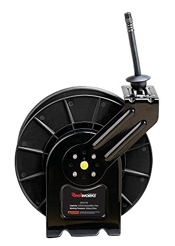 50 Hybrid (ReelWorks 28107153A Steel Retractable Air Compressor/Water Hose Reel with 3/8