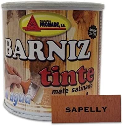PROMADE - Barniz tinte satinado al agua 375 ml (Sapelly)