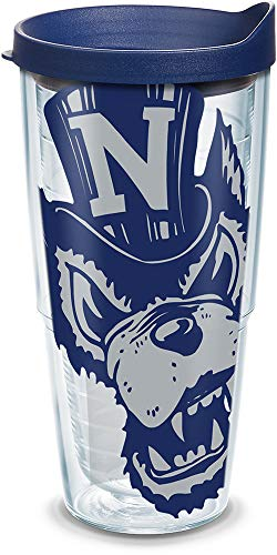 (Tervis 1126358 Nevada Wolf Pack Colossal Tumbler with Wrap and Navy Lid 24oz, Clear)