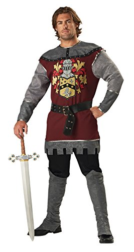 GTH Men's Renaissance Noble English Warrior Knight Armor Costume, X-Large (46-48) (Noble Warrior Adult Costume)