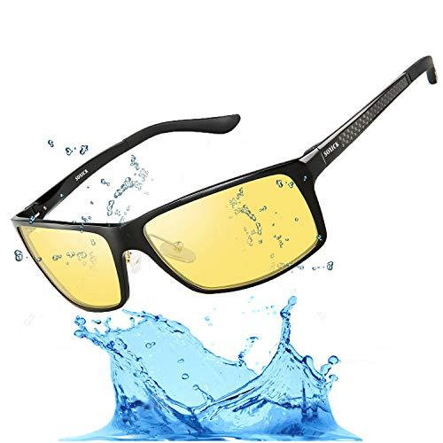 c824d3eddf Men s HD Polarized Night Driving Glasses Anti Glare Soxick Night View  Sports Sunglasses