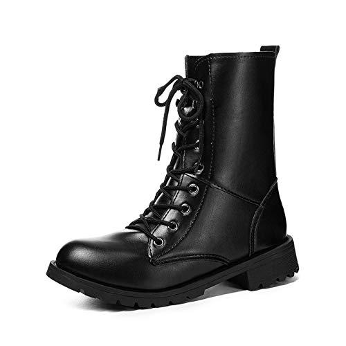 Y Patea Piel Martin Un 黑色 Tubo El Phy Delantero Con Salvaje De Unidos Grande Shoe Cinturón Estados wzEU0W1q