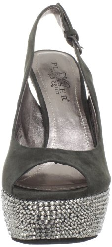 Pleaser Day & Night - Sandalias mujer verde - Olive Suede