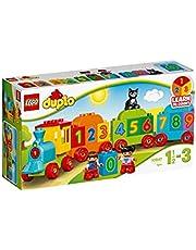 LEGO 10847 DUPLO Getallentrein, Treinspeelgoed met Getallen en Kleurrijke Stenen, Educatief Speelgoed voor Peuters van 1,5 Jaar Oud