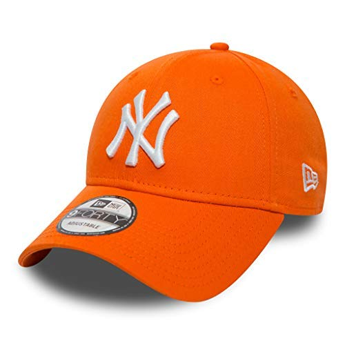 Unbekannt New Era 9forty Strapback Gorra MLB New York Yankees NY Naranja, OSFA (One