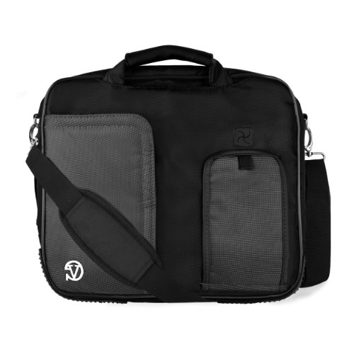 VanGoddy Pindar Messenger Carrying Bag for HP Elite x2 1011 G1 11.6 inch, HP ElitePad 1000 G2, 900 G1 10.1 inch Tablets (Black) (Hp Probook 650 G1 Hard Drive Removal)