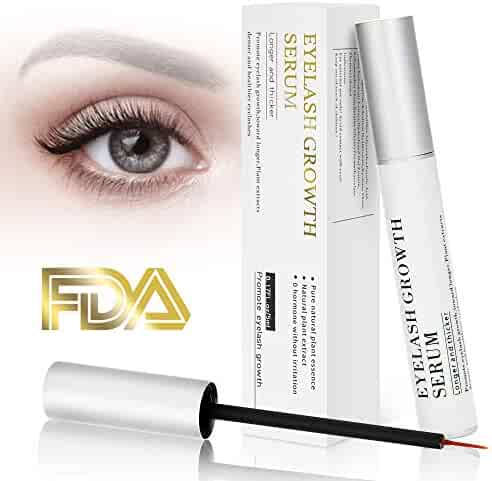 fc3f06310d0 Eyelash Growth Serum Eyebrow Enhancer Serum Professional Eyelash Booster  for Naturally Longer, Fuller & Thicker