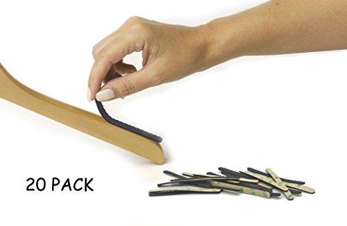 NOPPOR 3'' Non-slip Hanger Strips Self Adhesive Anti Slip Grip Hanging Clothes Gripper ()