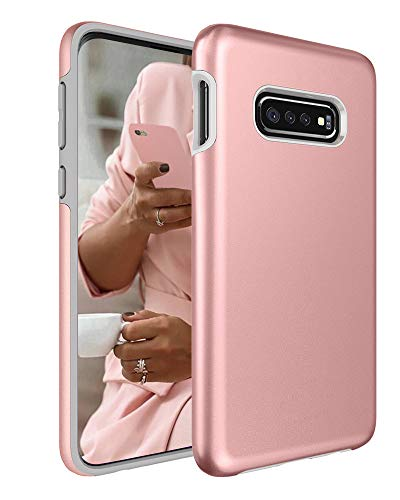 Galaxy S10e Case, Androgate [Pearl Series] Hybrid Matte Protective Back Cover Bumper Case for Samsung Galaxy S10e, Pink Gold ()