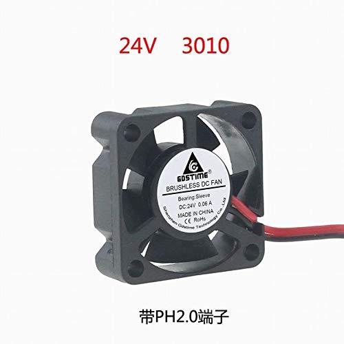 REFIT New DC DC 24V 3cm 30mm 30x30x10 3010 Ultra Small Mini Cooling Fan