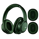 Mpow H7 Plus APTX Bass Bluetooth Headphone Over Ear, 18Hrs Playtime Comfortable Wireless Headphones, Replaceable Earmuffs, Rechargeable CVC6.0 Bluetooth Headset with Mic for Cellphone/Tablet/PC