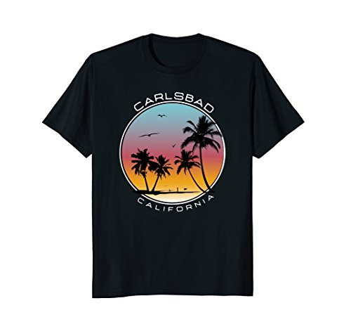 Carlsbad California Sunset Palm Tree T-Shirt