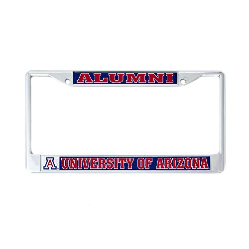 (Desert Cactus University of Arizona Alumni Metal License Plate Frame for Front Back of Car Officially Licensed UA Wildcats (Alumni))