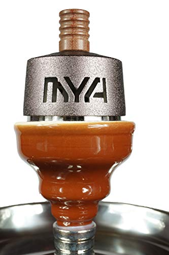 MYA Fornello Heat Management System With Male Insert Head for MYA Hookahs  or other Male Insert Hookahs (Brown)