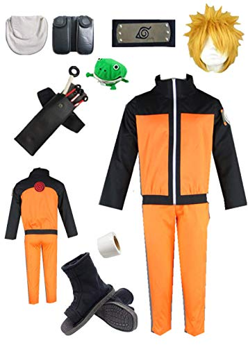 YOUYI Naruto Uzumaki Anime Halloween Cosplay Costume (S) Orange -