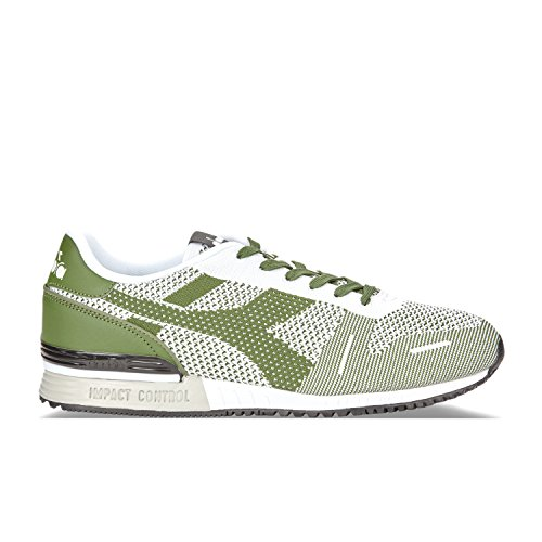 Diadora Titan Weave Uomo Sneaker Bianco C6113 - Verde Galapagos-nero
