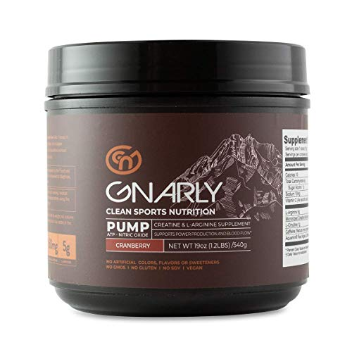 Gnarly Nutrition Pump Pre-Workout Supplement || All Natural Nitric Oxide Booster (Crankin' Cranberry)