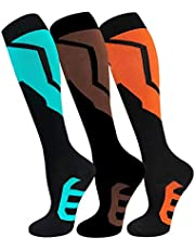 Copper Compression Socks for Men & Women(3 Pairs),15-20mmHg is Best for Running,Athletic,Medical,Pregnancy,Travel