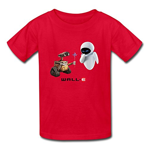 AOPO Wall E T-shirts For Kids Unisex Large (Wall E And Eve Halloween Costumes)