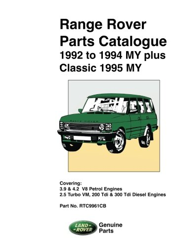 Range Rover Parts Catalog 1992-1994 Plus Classic 1995 MY pdf