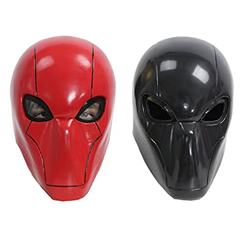 XCOSER Adult Red Hood Mask Helmet Costume Props for Halloween Cosplay