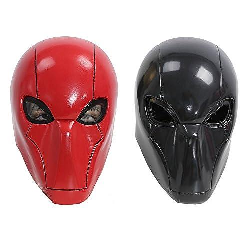 XCOSER Adult Red Hood Mask Helmet Costume Props for Halloween Cosplay