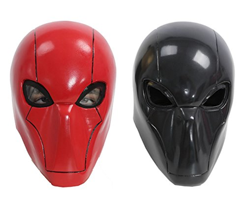 Red Hood Costume Arkham Knight (XCOSER Adult Red Hood Mask Helmet Costume Props for Halloween Cosplay)