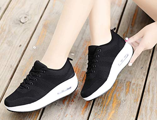 Summer in Athletic New D da Walking Shoes Academy Scarpe Exing Mesh Shake Hollow Scarpe Low Traspirante donna Shoes Aumentare Top Mesh donna Altezza Sneakers maglia da Fall wqC0Xtz