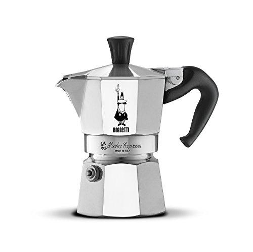 Bialetti 06857 1161 Moka Express Export Espresso Maker, Silver -1-Cup