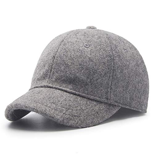 Winter Hat,Wool Felt Autumn Winter Hat Solid Color Short Soft Brim Lightweight Day Beret Hats Breathable Tweed Baseball Cap Elastic Sport Caps for Ladies Men Woman Outdoor Under 20 Warm Light gray