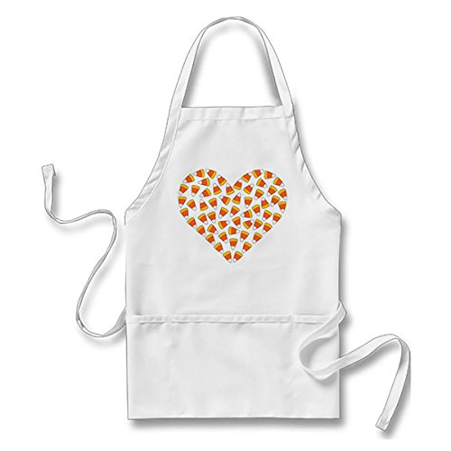 Custom it for you Funny Apron Candy Corn Heart White, One Size Fits Most