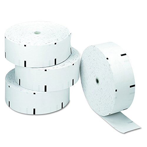 PM Company 06507 Paper Rolls for NCR Atms, 4 Rolls/Carton, 3-1/8
