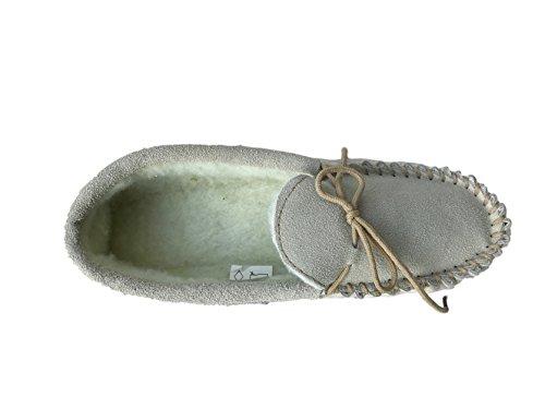 KURU , Damen Hausschuhe beige Beige/Grey Fur 40
