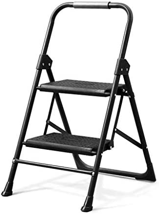 階段2階建て折りたたみスツール階段椅子キッチンの寝室のインテリアに適した多目的世帯収縮はしご47x58x47CMブラックステップスツール