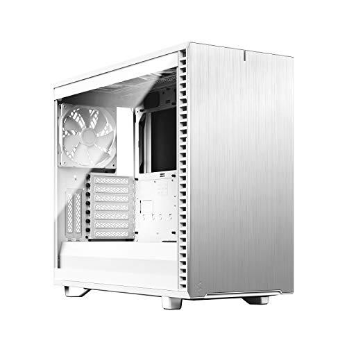 Fractal Design Define 7 White Brushed Aluminum/Steel E-ATX Silent Modular Tempered Glass Window Mid Tower Computer Case