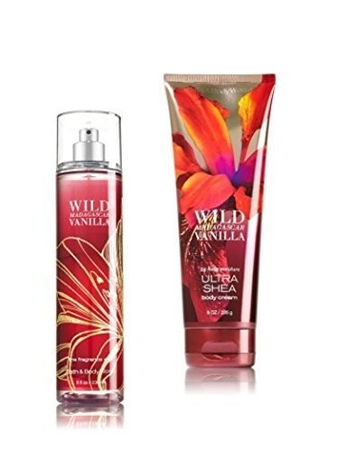 Bath & Body Works – Signature Collection – Wild Madagascar Vanilla – Gift Set- Fine Fragrance Mist & Ultra Shea Body Cream