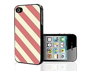 Salmon Diagonal Stirpes Hard Snap on Phone Case (iPhone 4/4s)